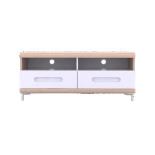 FLY-meuble tv 2 tiroirs chene et blanc