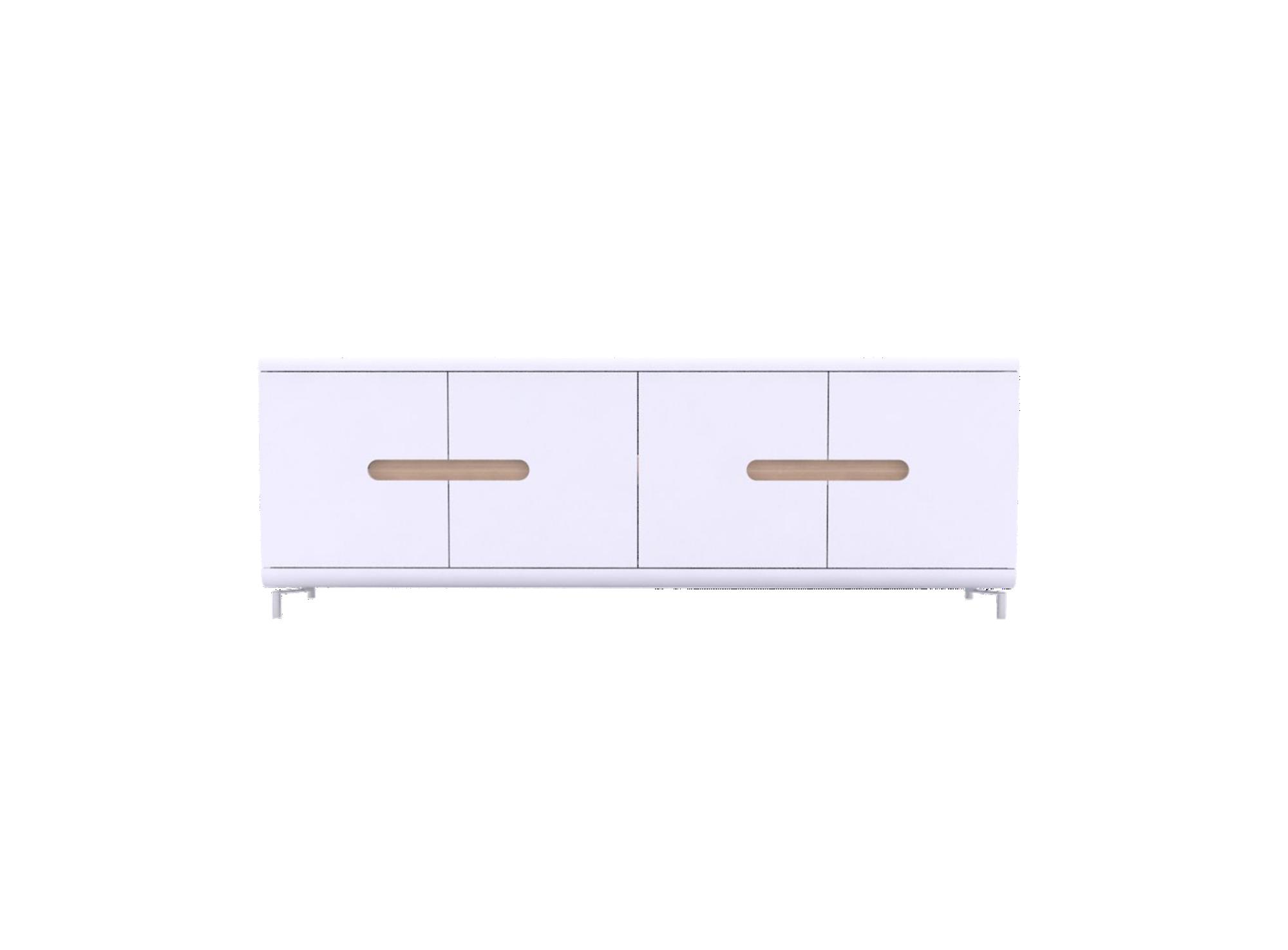 Rangement 4portes blc/ band. 4 couleurs. structure en panneaux de par ...