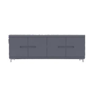 FLY-rangement 4 portes gris/bandeau gris