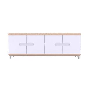 FLY-rangement 4 portes chene/blanc