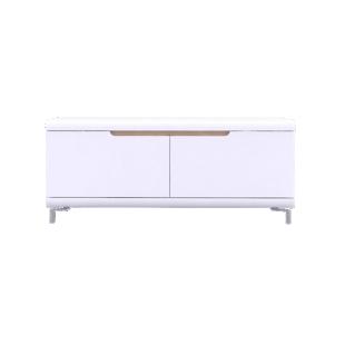 FLY-meuble tv 2 abattants blanc/4 bandeaux couleurs