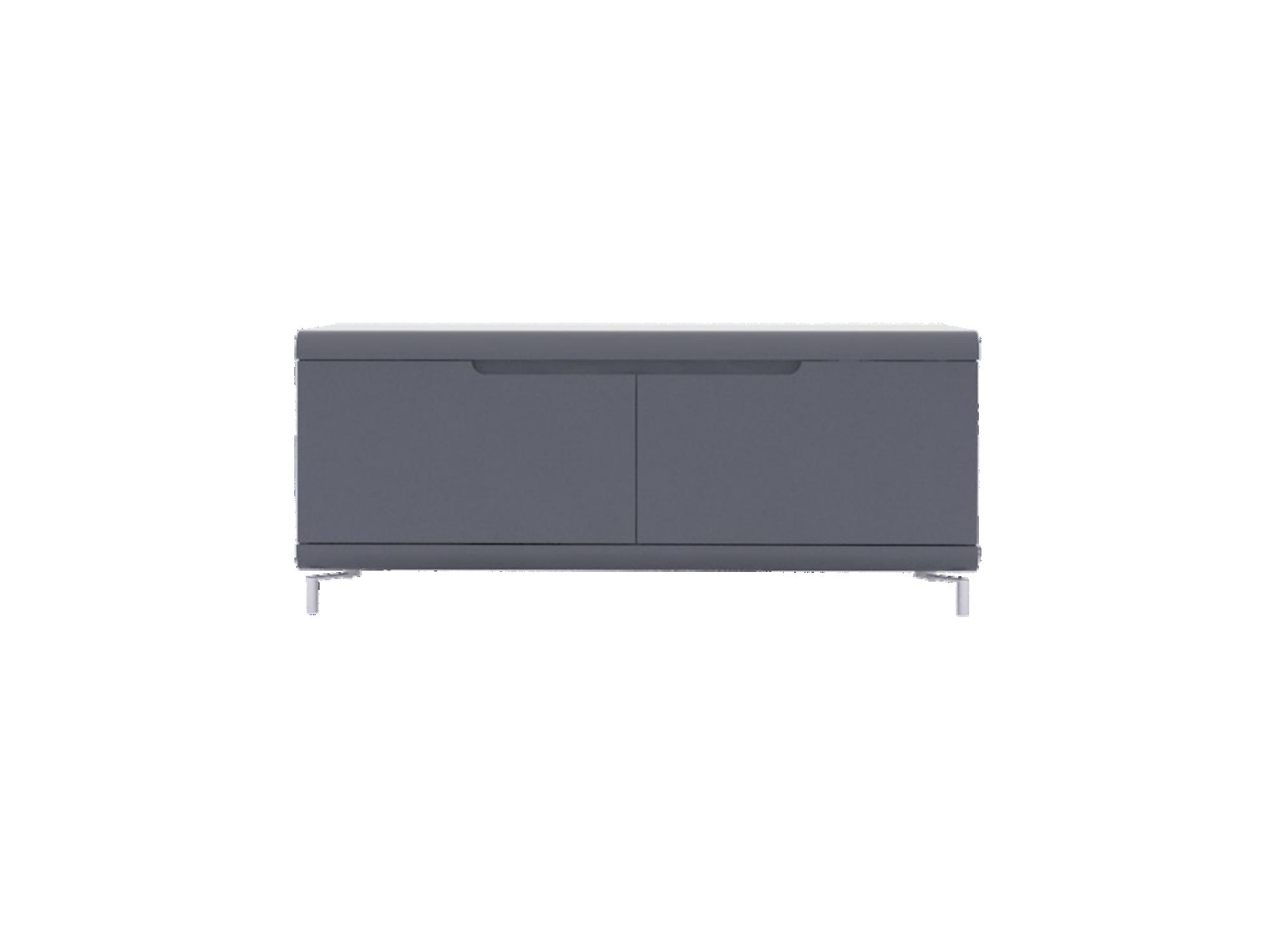 Meuble tv 2 abattants gris bandeau gris meuble tv for Meuble sejour gris