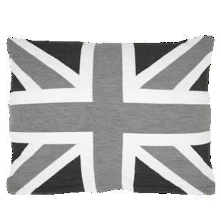 FLY-coussin coton 45x60 noir et gris