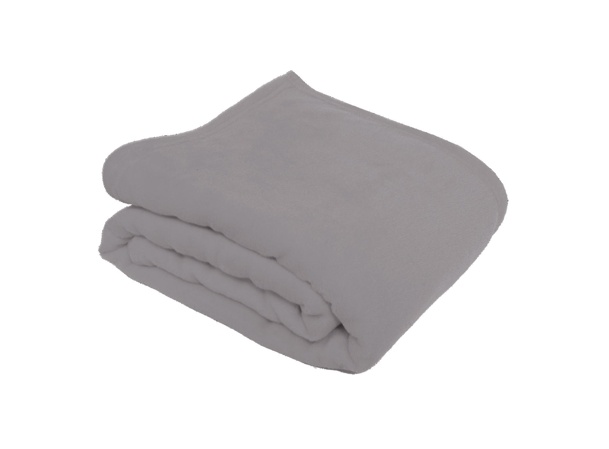Plaid 100% polyester coloris gris densite 200g/m2 lavable en machine ...