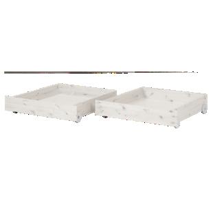 FLY-tiroirs lit 90cm blanc