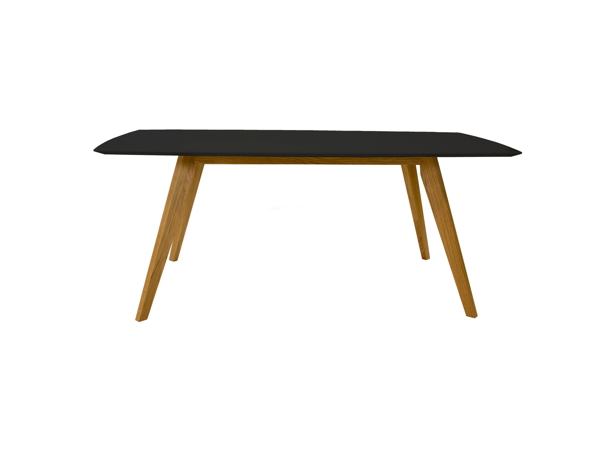 Table rectangulaire 185x75x95cm noir fly for Table ronde extensible design