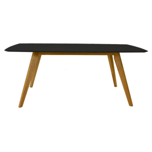 FLY-table rectangulaire 185x75x95cm noir