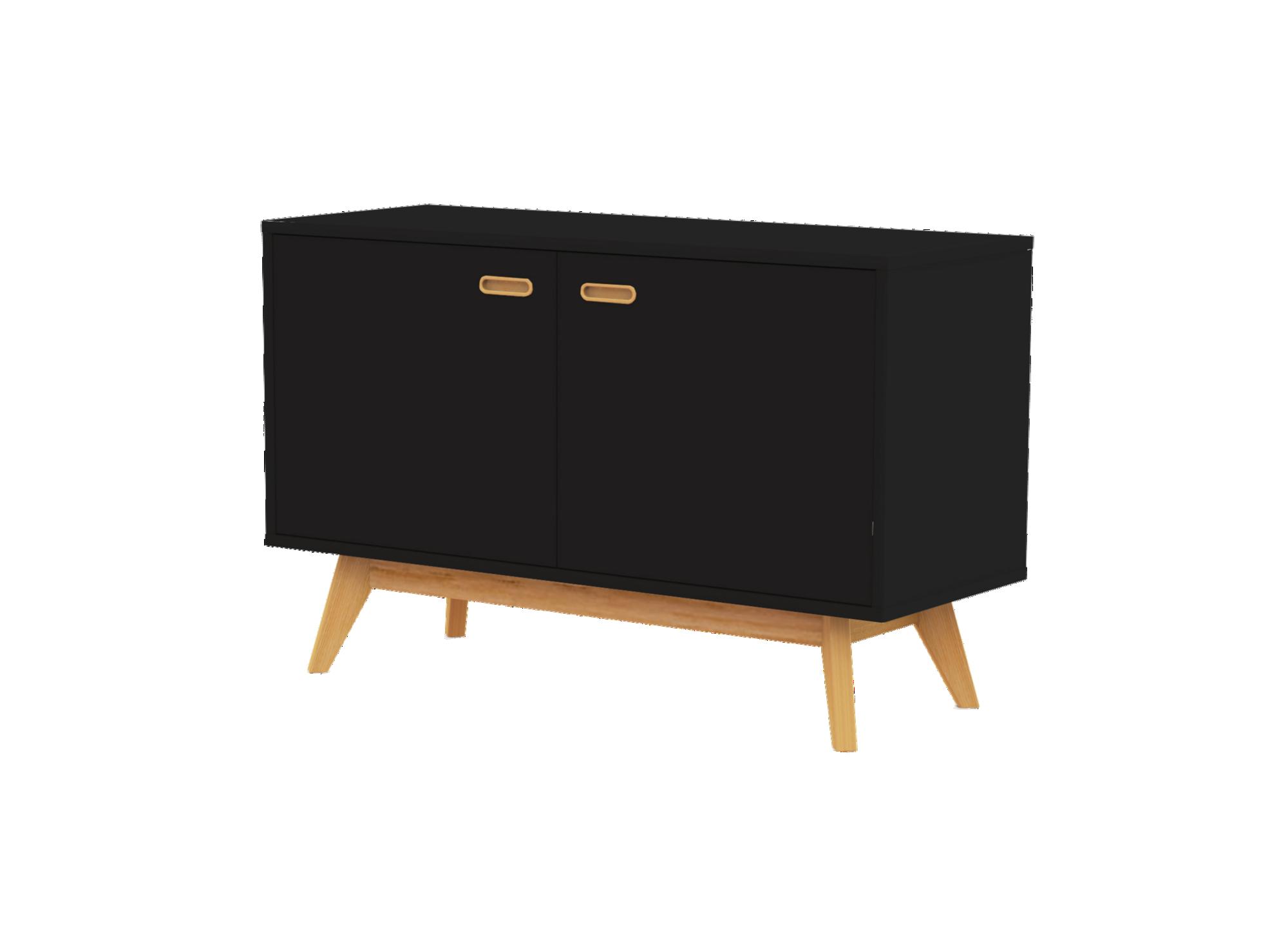 bahut 2portes noir chene fly. Black Bedroom Furniture Sets. Home Design Ideas
