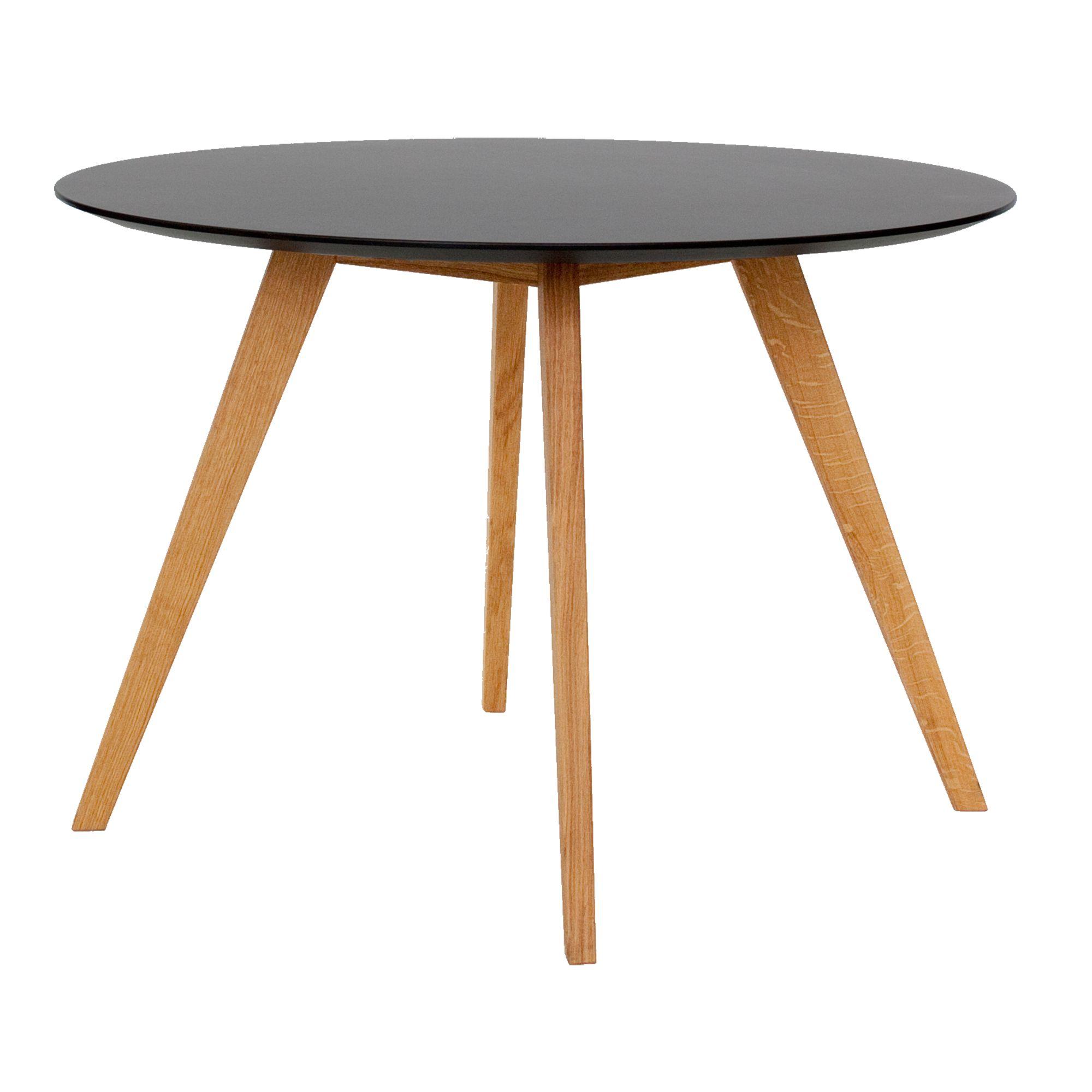 table ronde diametre 110cm hauteur 75cm noir | fly