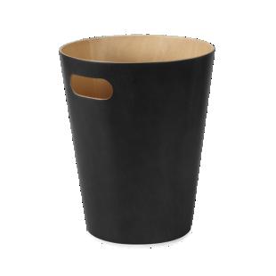 FLY-poubelle bois coloris noir
