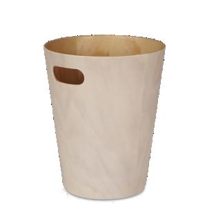 FLY-poubelle bois coloris blanc