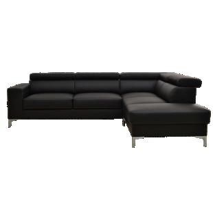 FLY-canape d'angle reversible convertible coloris noir