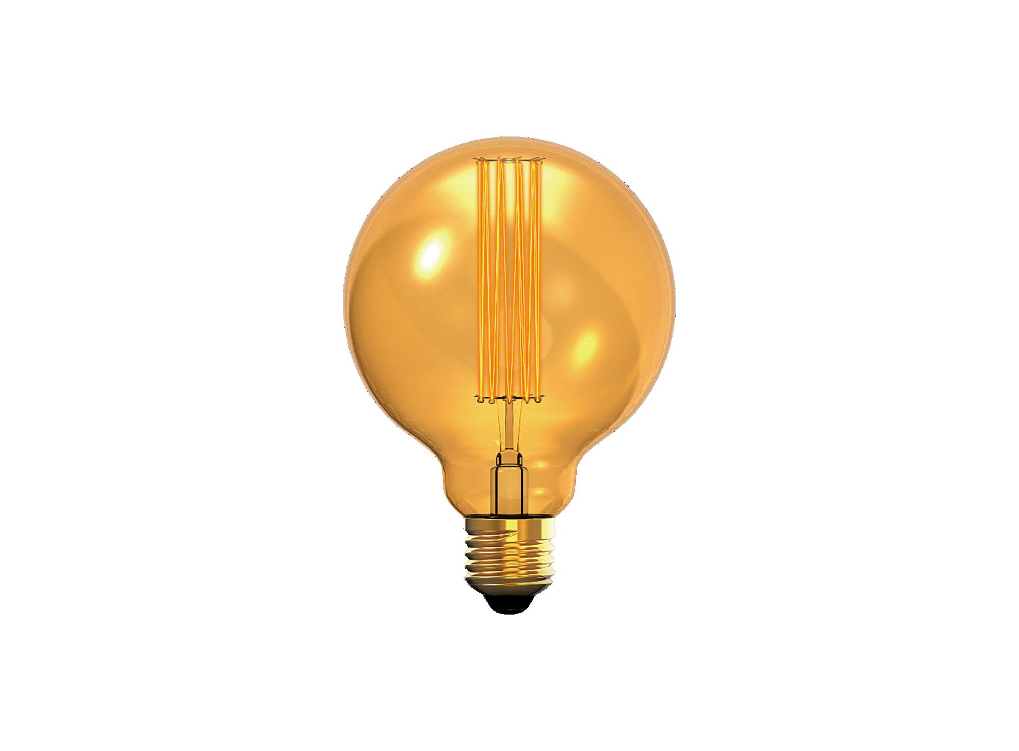 Ampoule decorative a filament  incandescent en forme de globe, colori ...