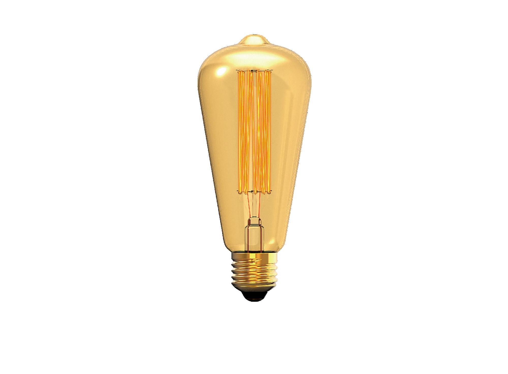 Ampoule decorative a filament  incandescent en forme de poire, colori ...