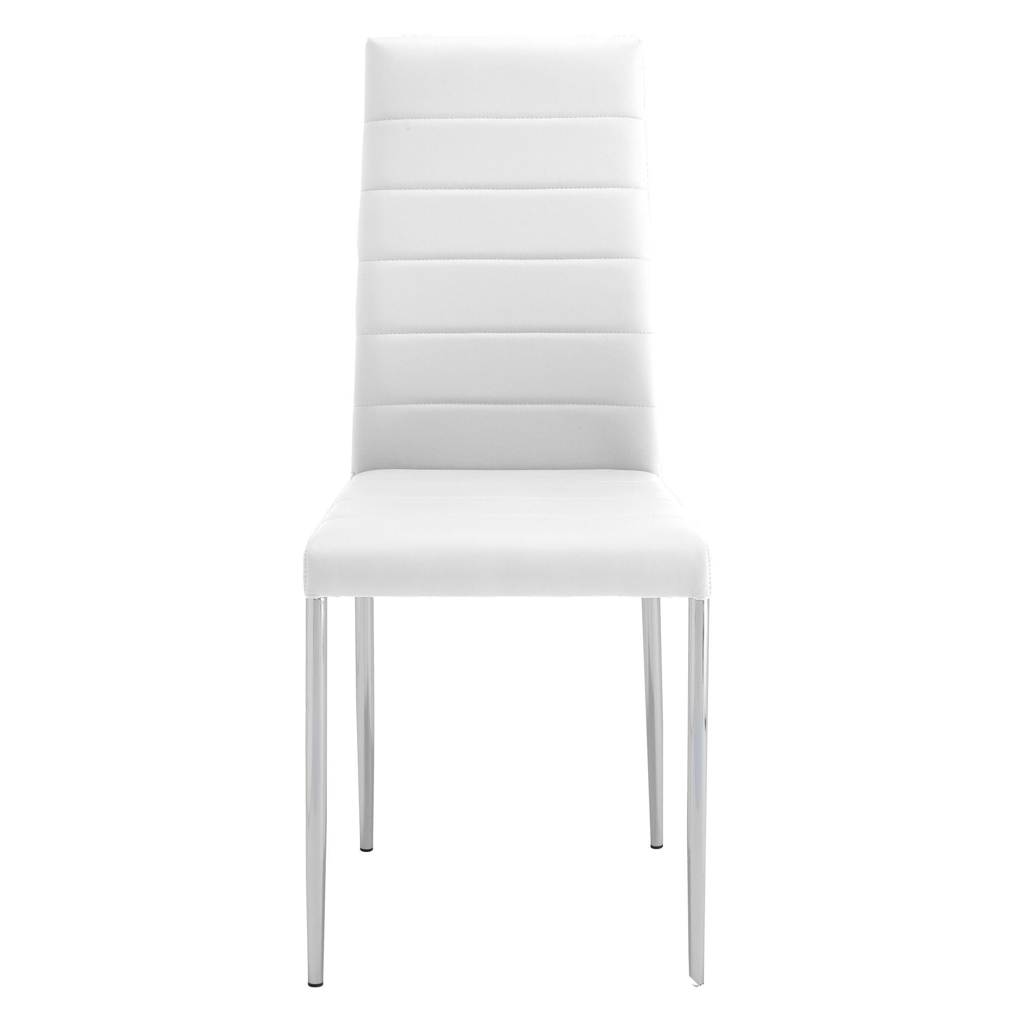 chaise pu blancchrome chaise table amp chaise meuble