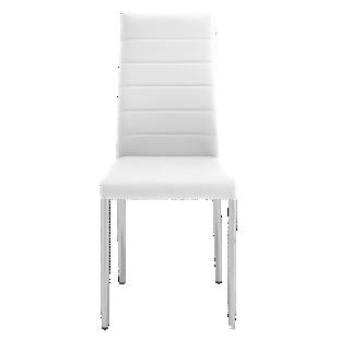 FLY-chaise pu blanc/chrome