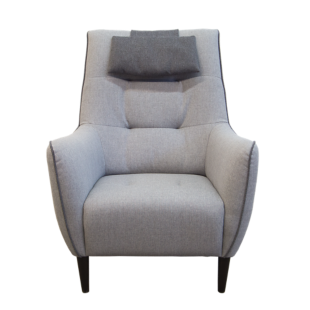 FLY-fauteuil gris/anthracite