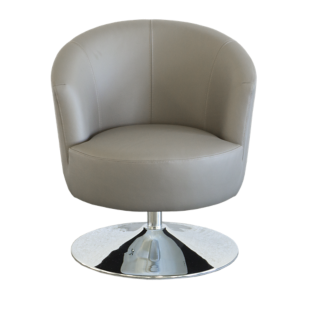 FLY-fauteuil cuir coloris taupe