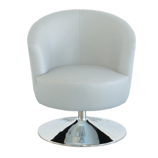 FLY-fauteuil cuir coloris blanc