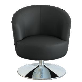 FLY-fauteuil cuir coloris noir