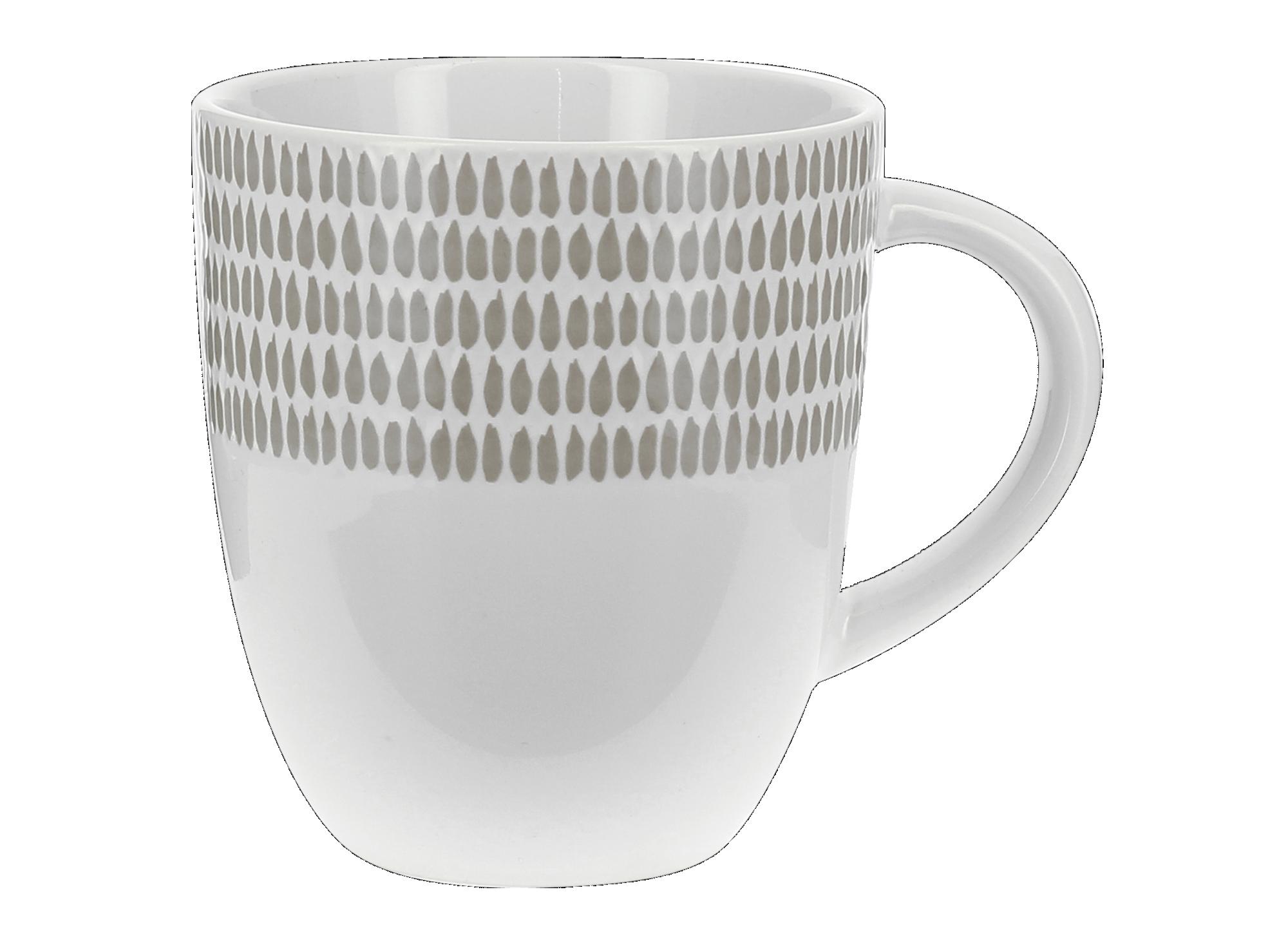 Mug en gres emaille, peint coloris taupe et blanc contenance : 35cl r ...