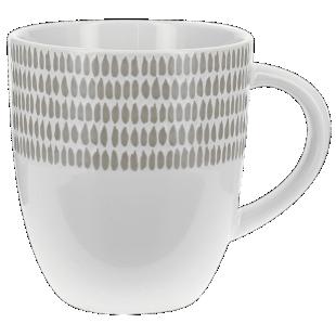 FLY-mug 35cl taupe/blanc