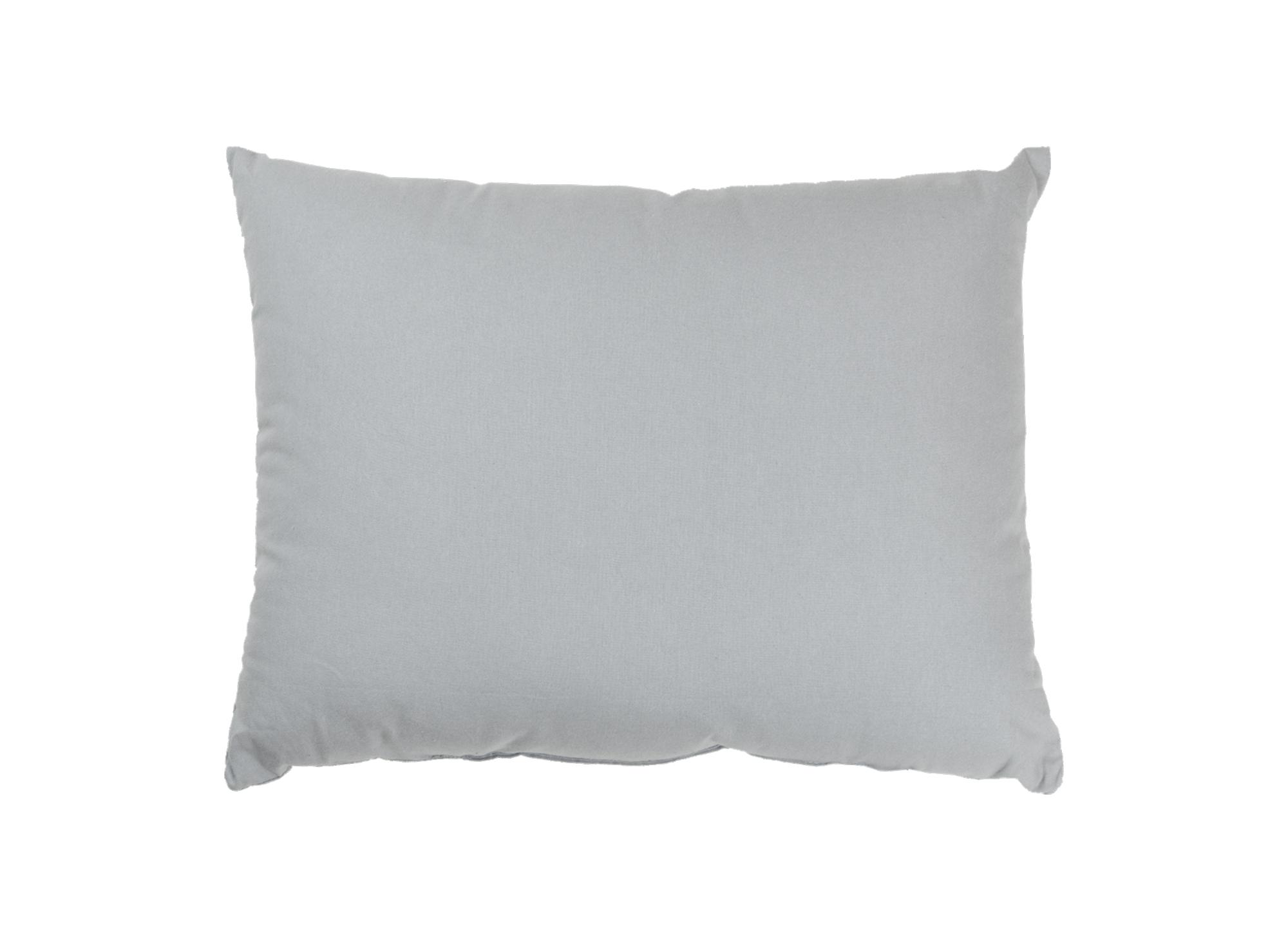 Coussin 35x45  revetu 100% polyester garni 100% polyester coloris gri ...