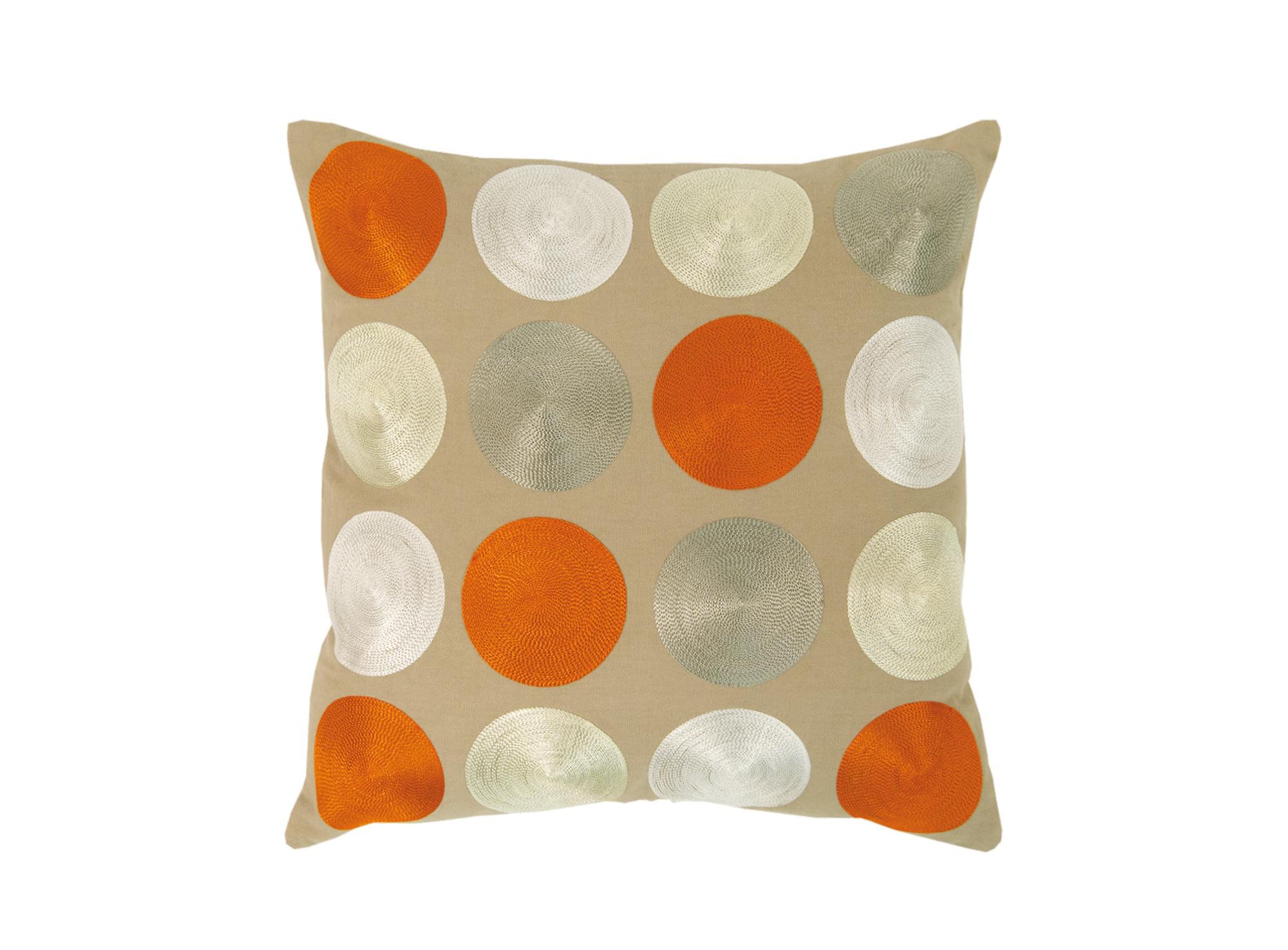 Coussin 40x40 revetu 100% coton garni 100% polyester coloris orange ...