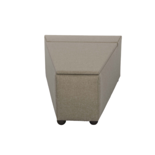 FLY-pouf de rangement tissu taupe