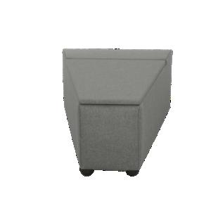 FLY-pouf de rangement tissu gris anthracite