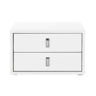 FLY-bloc bureau 2 tiroirs blanc