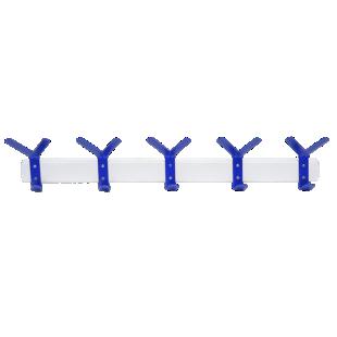 FLY-patere 5 crochets coloris bleu et blanc