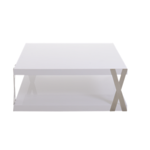 FLY-table basse blanc/metal