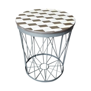 FLY-table basse d36 laque serigraphie mosaique