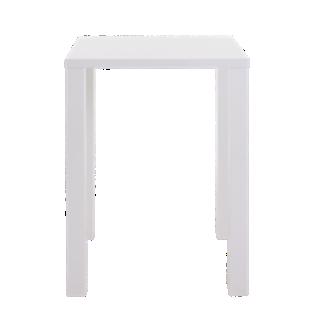 FLY-table bar blanc brillant 80x80cm