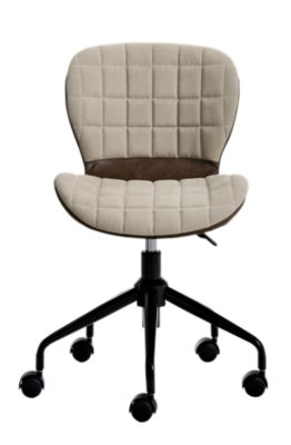 Chaise de bureau tissu beigemarron Fly
