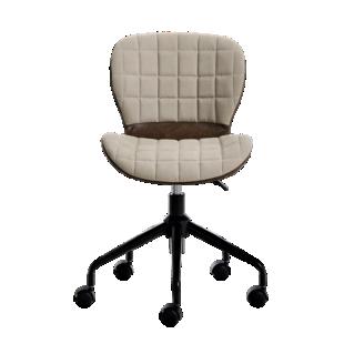 FLY-chaise de bureau tissu beige/marron