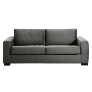 FLY-canape convertible 3 pl tissu gris