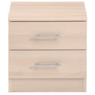 FLY-chevet 2 tiroirs acacia