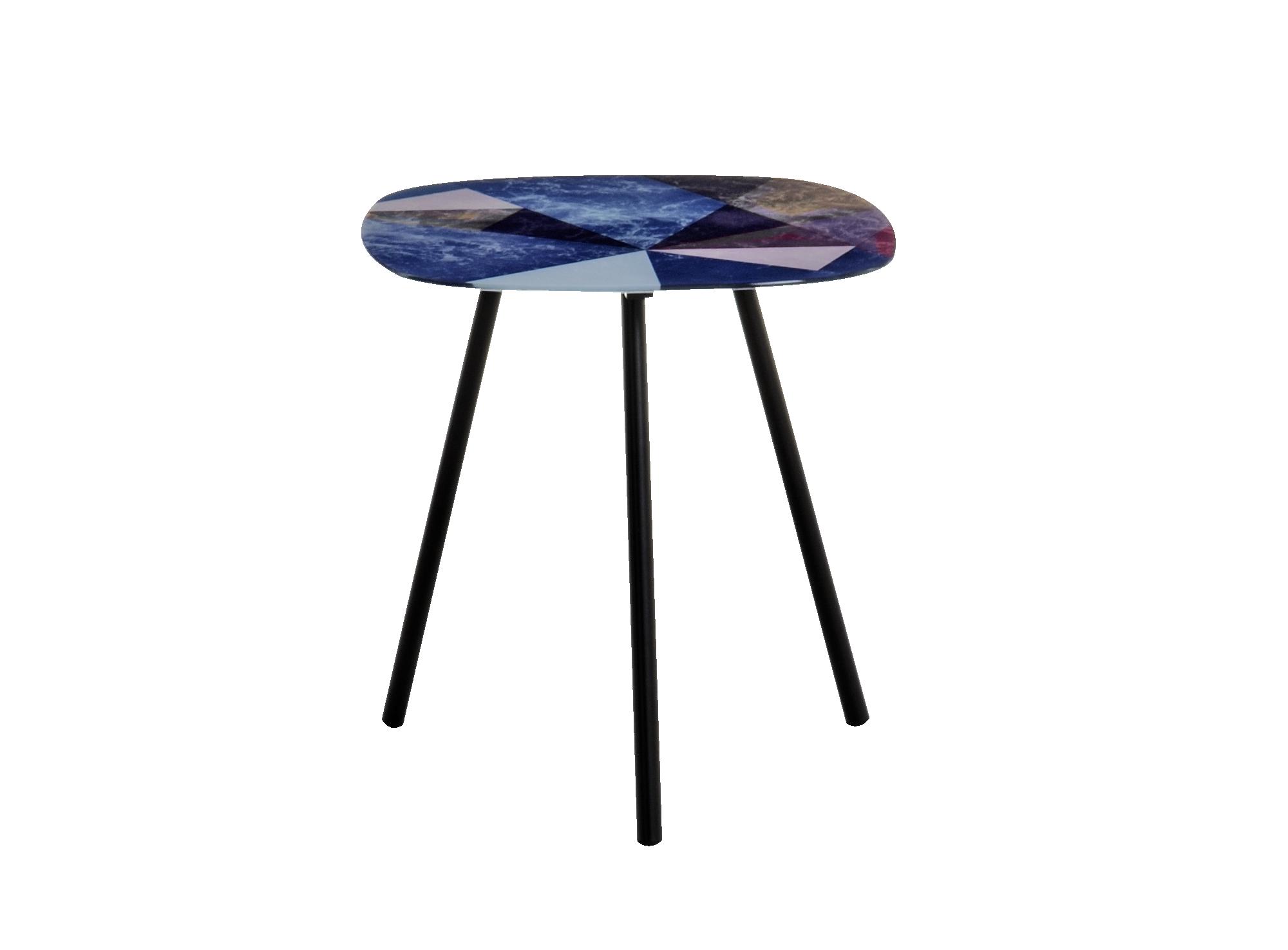Table carre structure et pietement en acier laque coloris noir. plate ...