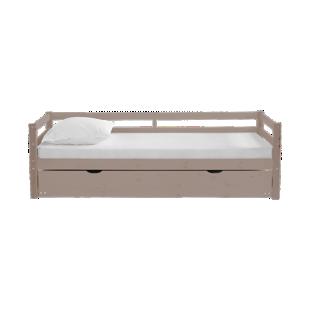FLY-lit gigogne 90x190 cm pin vernis gris