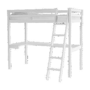 FLY-plateau d'angle pin blanc pour lit haut