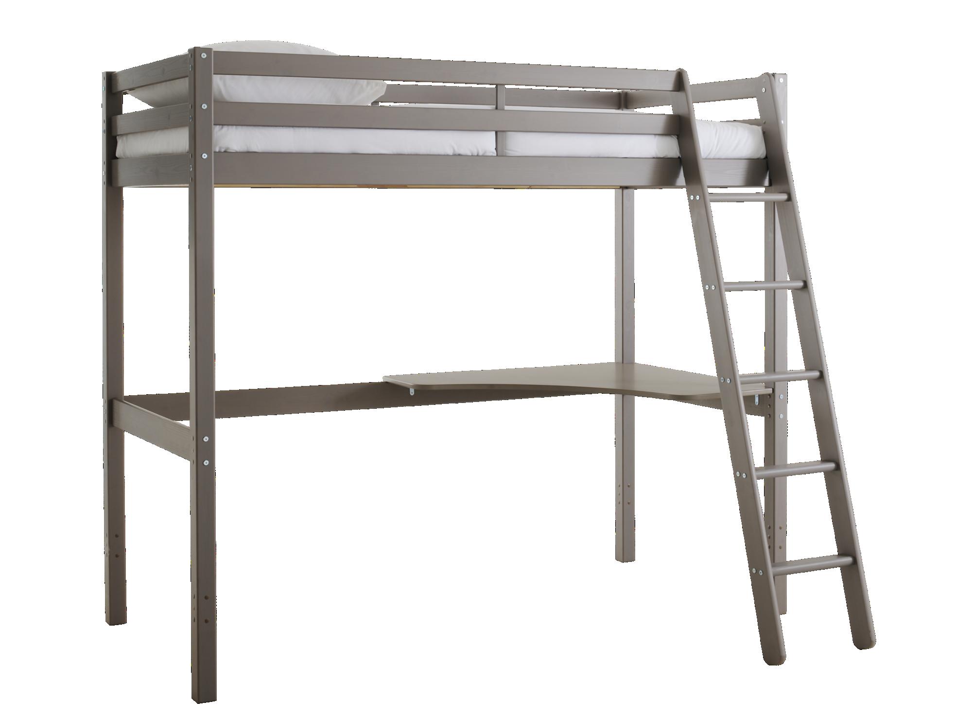Bureau d'angle pour lit haut structure et pietement en pin massif fin ...