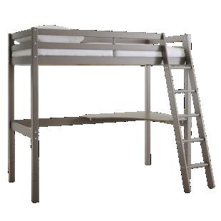 FLY-plateau d'angle pin vernis gris pour lit haut