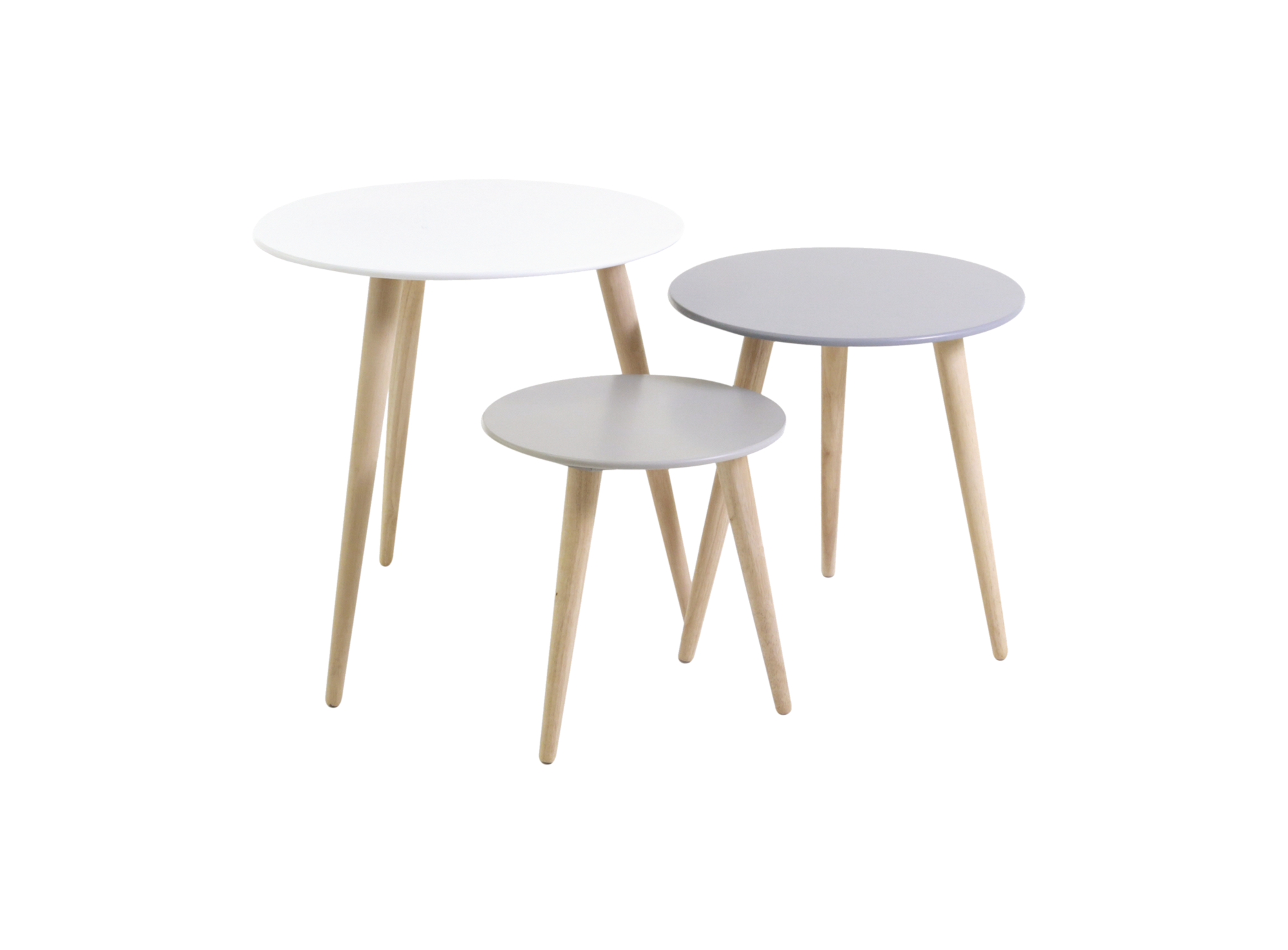 Set de 3 tables gigogne fly - Table basse gigogne fly ...
