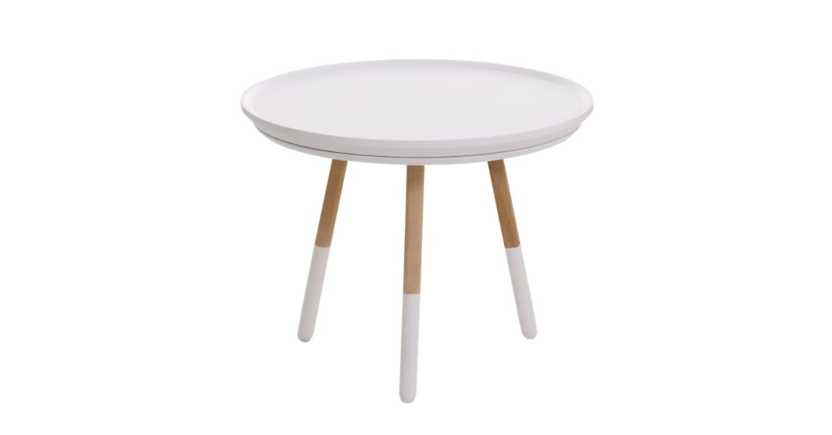 Table basse h35 naturel et blanc fly - Table basse malle fly ...