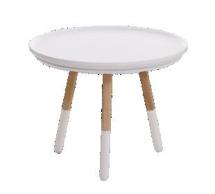 FLY-table basse h35 naturel et blanc