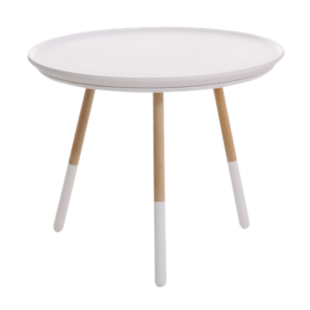 FLY-table basse h45 naturel/blanc