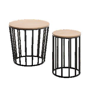 FLY-set de 2 tables basses noires