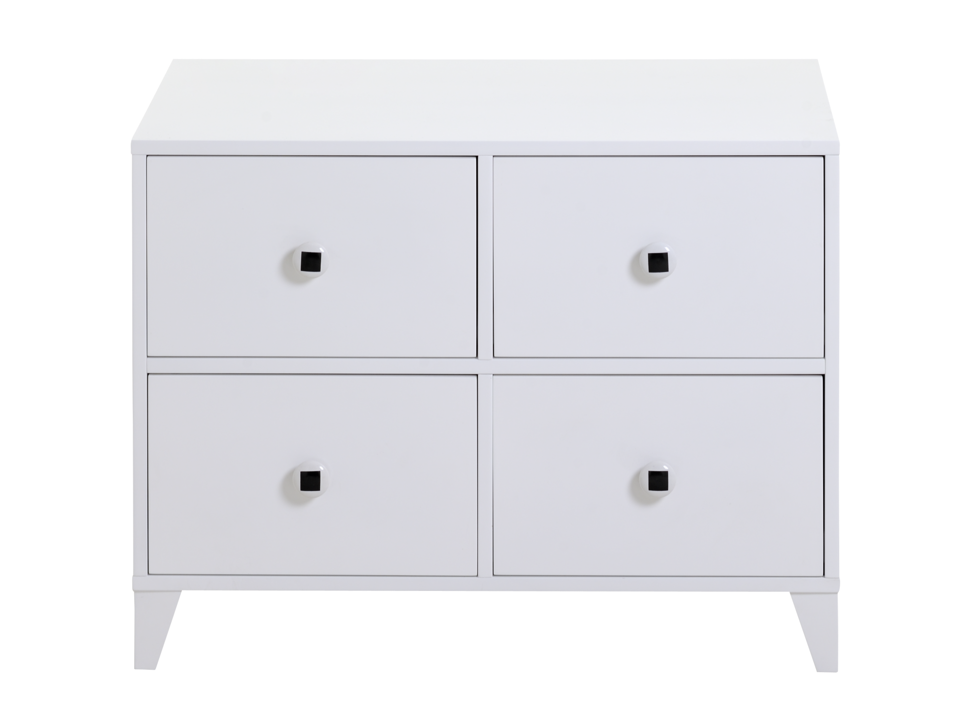 commode 4 tiroirs blanc fly. Black Bedroom Furniture Sets. Home Design Ideas
